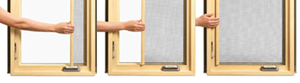 French Casement and Retractable Screen