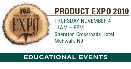 Product Expo 2010 - Thurs November 4 - Sheraton Crossroads Hotel - Mahwah, NJ