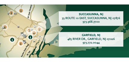 Succasunna and Garfield locations