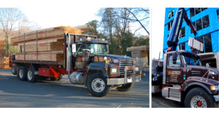 Kuiken Brothers fleet of 80+ vehicles, (including moffets, boom, pick-up trucks, tractor trailers and more) will provide you with material exactly when and where you need it