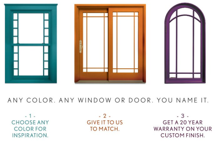 Marvin windows any color you want kuiken brothers for Marvin vs andersen windows