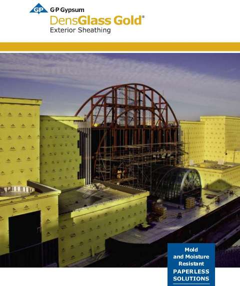 Georgia pacific densglass sheathing available at kuiken for Exterior sheathing options