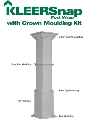 Kleer Pvc Kleersnap Post Wrap Moulding Kits Available At