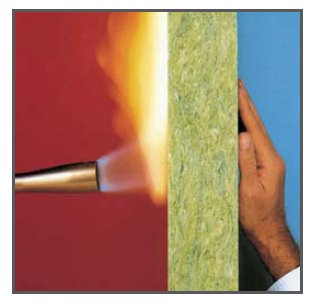 Roxul afb acoustical fire batt insulation available at for Fire resistant house siding material hardboard