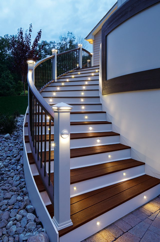 Kuiken trex color lightingstairs trex deck lighting features a compact design for easy