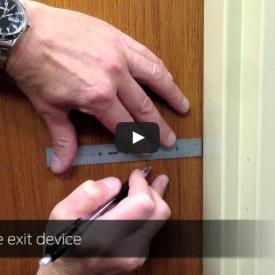 How to Install Von Duprin 98/99 Rim Exit Device Video - Kuiken Brothers Commercial Door & Hardware