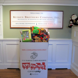 Kuiken Brothers Supports Toys for Tots - Special Event at Succasunna Showroom