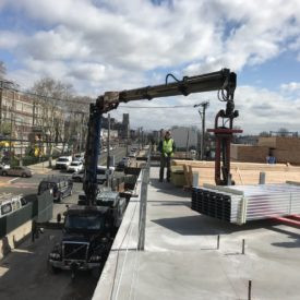 Light Gauge Steel Boom Delivery by Kuiken Brothers Commercial Building Materials NJ NY