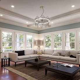 Modern Craftsman Arts & Crafts Living Room Created With Kuiken Brothers Modern Craftsman Moulding Collection