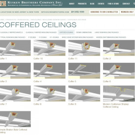 Download Coffered Ceiling Moulding Plans from Kuiken Brothers Moulding Design Guide