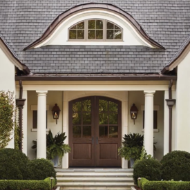 ThermaTru Mahogany-Grained Common Arch Doors Available at Kuiken Brothers Locations Throughout NJ & NY