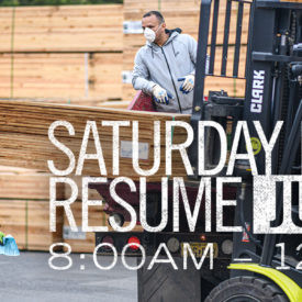 Saturday Hours to Resume June 13, 2020, 8am - 12pm