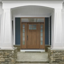 Therma-Tru Fiber Classic Mahogany Collection Shaker Style Doors and Sidelites Available at Kuiken Brothers Locations in NJ & NY