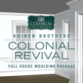 Colonial Revival Style Moulding Package - Whole House Interior Elevation Ideas featuring Kuiken Brothers Classical Moulding