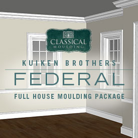 Federal Style Moulding Package - Whole House Interior Elevation Ideas featuring Kuiken Brothers Classical Moulding