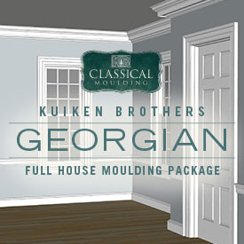 Georgian Style Moulding Package - Whole House Interior Elevation Ideas featuring Kuiken Brothers Classical Moulding