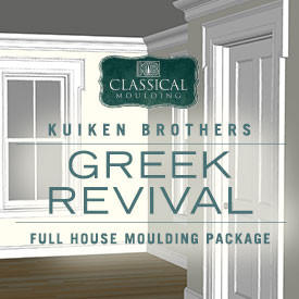 Greek Revival Style Moulding Package - Whole House Interior Elevation Ideas featuring Kuiken Brothers Classical Moulding for Modern or Contemporary Homes