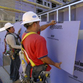 National Gypsum Purple Gold Bond eXP Extended Exposure Sheathing