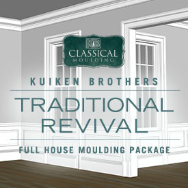 Traditional Revival Style Moulding Package - Whole House Interior Elevation Ideas featuring Kuiken Brothers Classical Moulding
