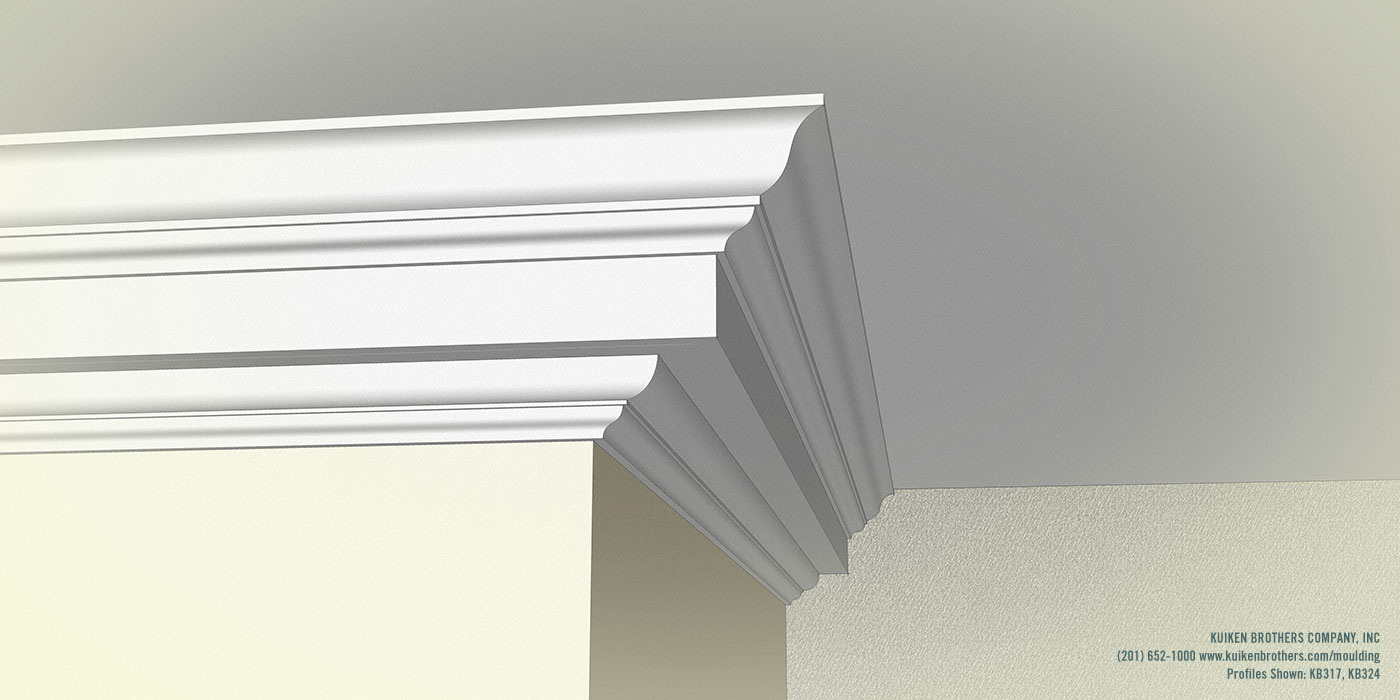 Colonial Revival Crown Boxed Cornice