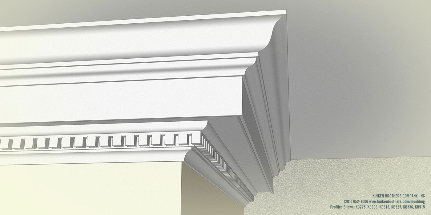 Georgian dentil crown cornice combination kuiken brothers for Pvc mouldings interior