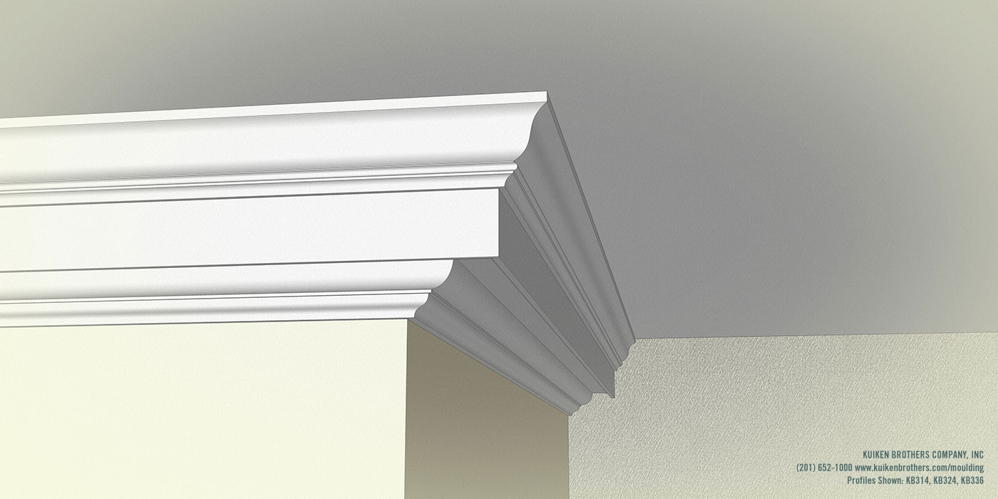 Kb324 bed mould kuiken brothers for Colonial cornice