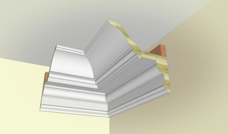 How To Create A Modern Cove Crown Moulding Build Up With