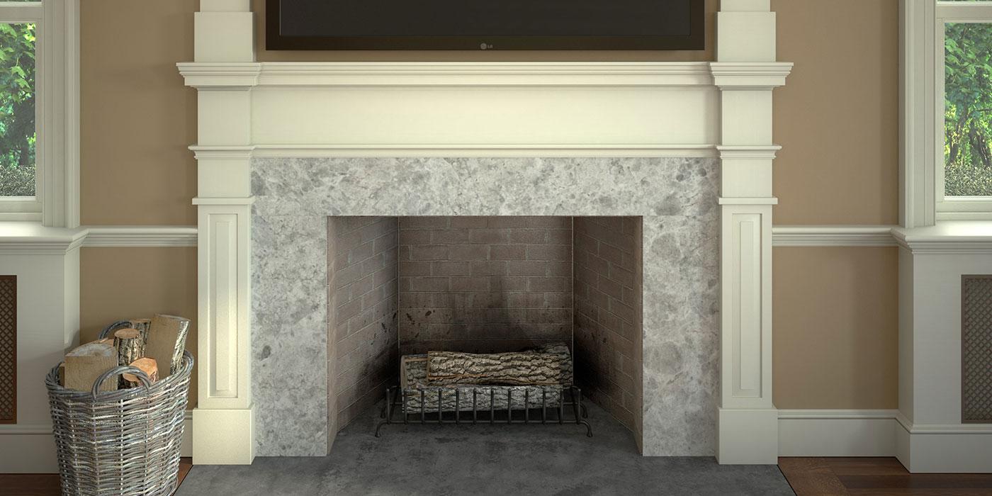 Colonial Revival Mantel