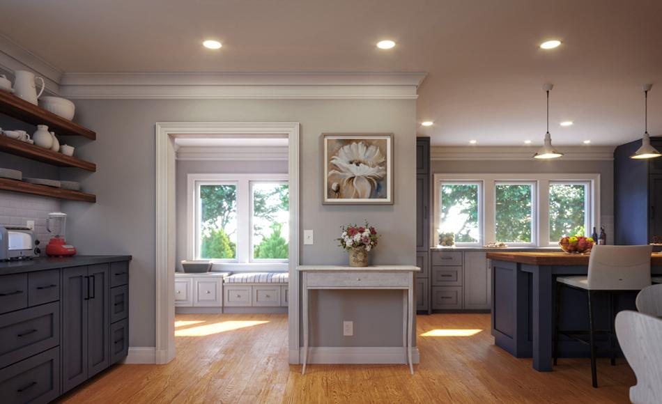 Modern Craftsman Lake House Kitchen