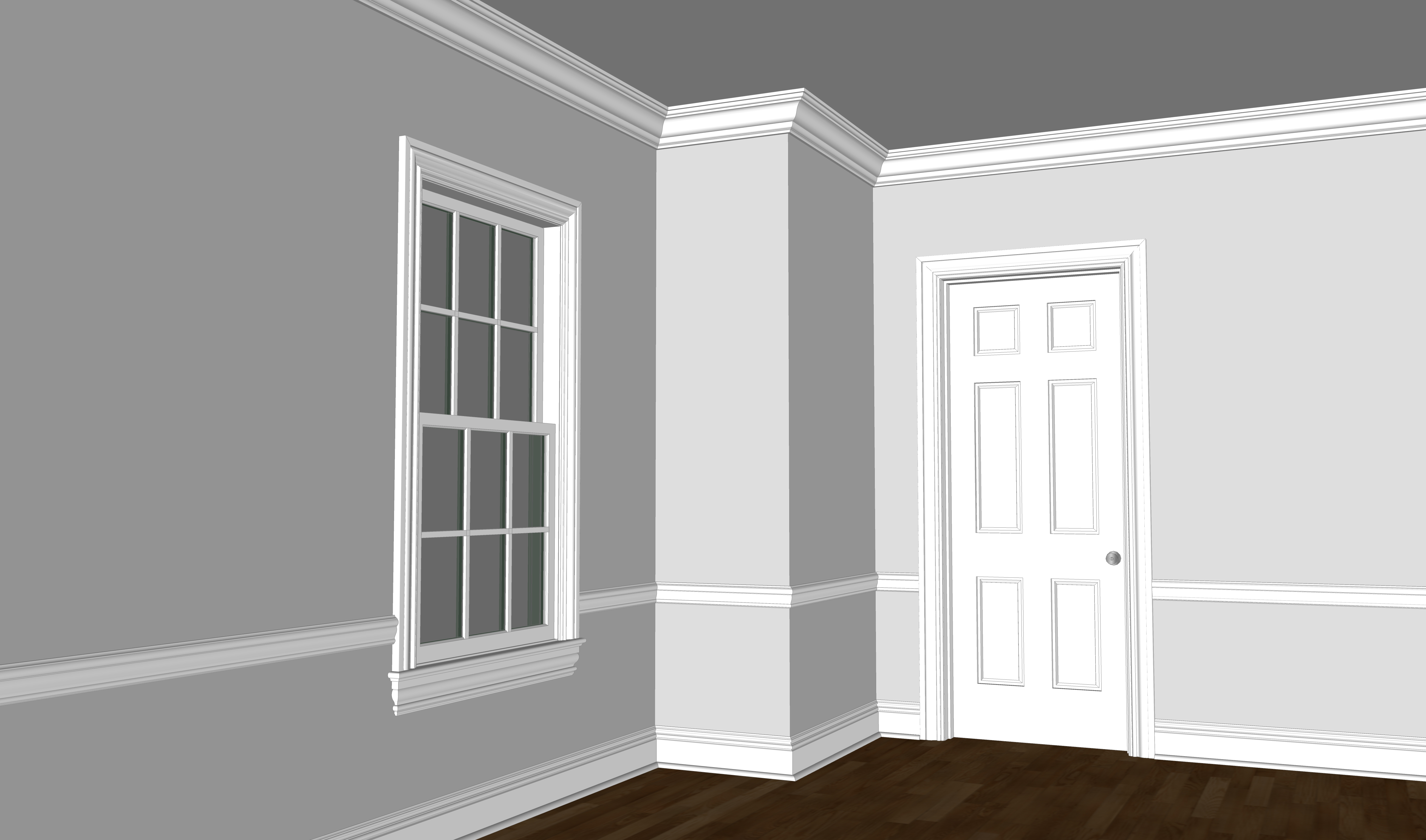 Bergen Colonial Moulding Package