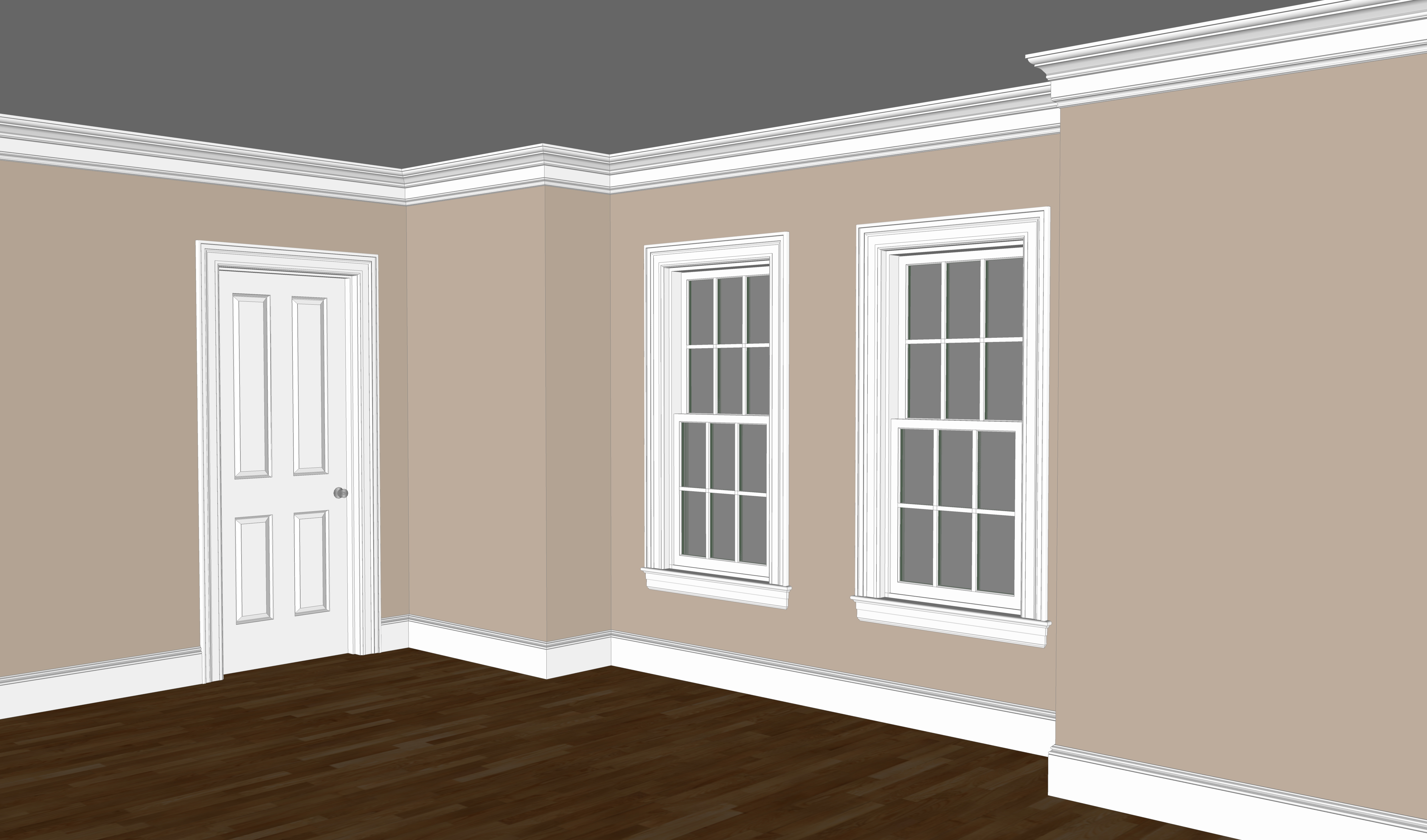 Ridgewood traditional moulding package kuiken brothers for Colonial trim molding