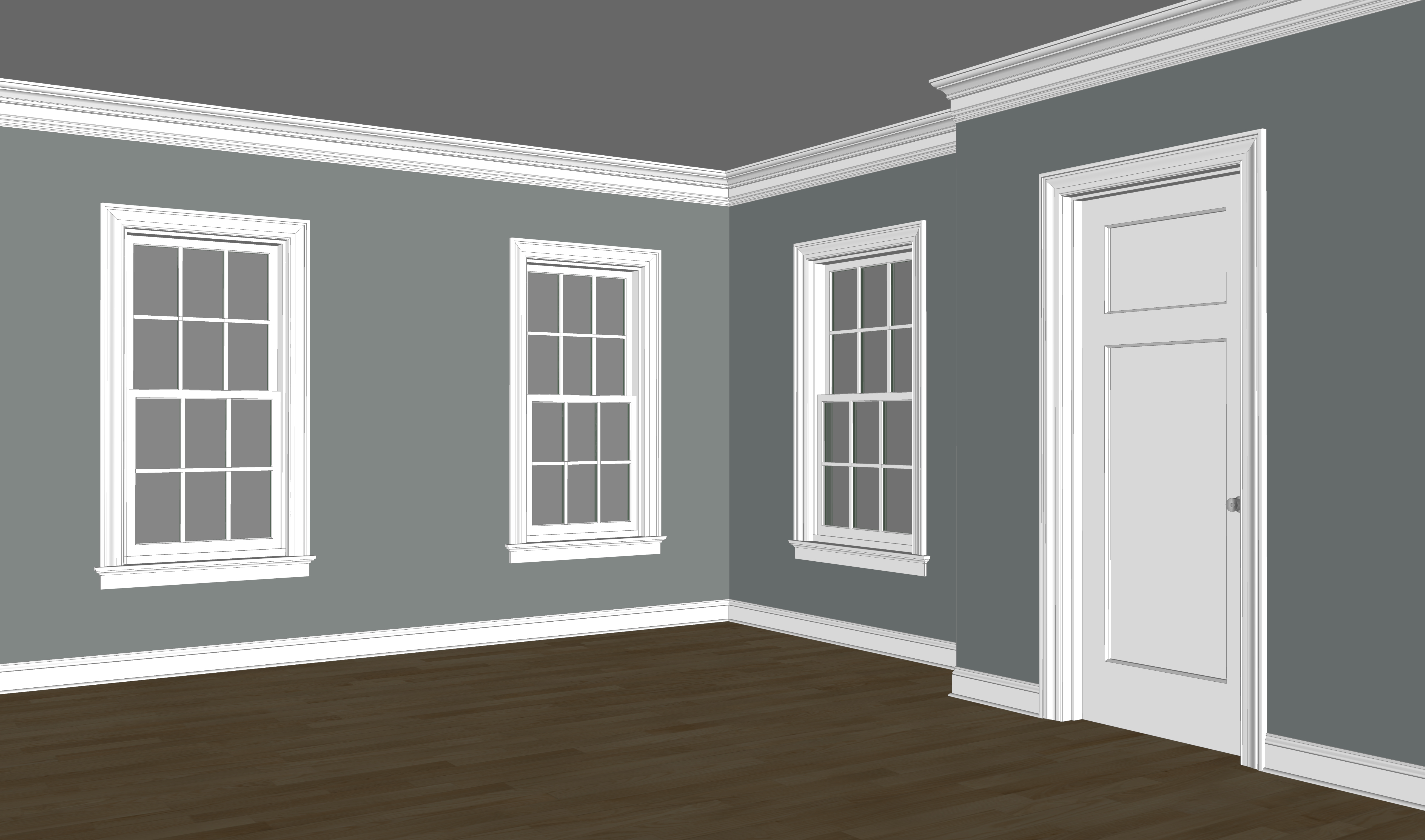 Exterior window trim colonial - Kb185 Sanitary Casing In Use