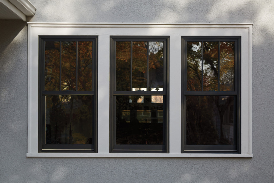 Andersen 400 Series Woodwright Insert Double Hung Replacement Window With Black Exterior And Specified Equal