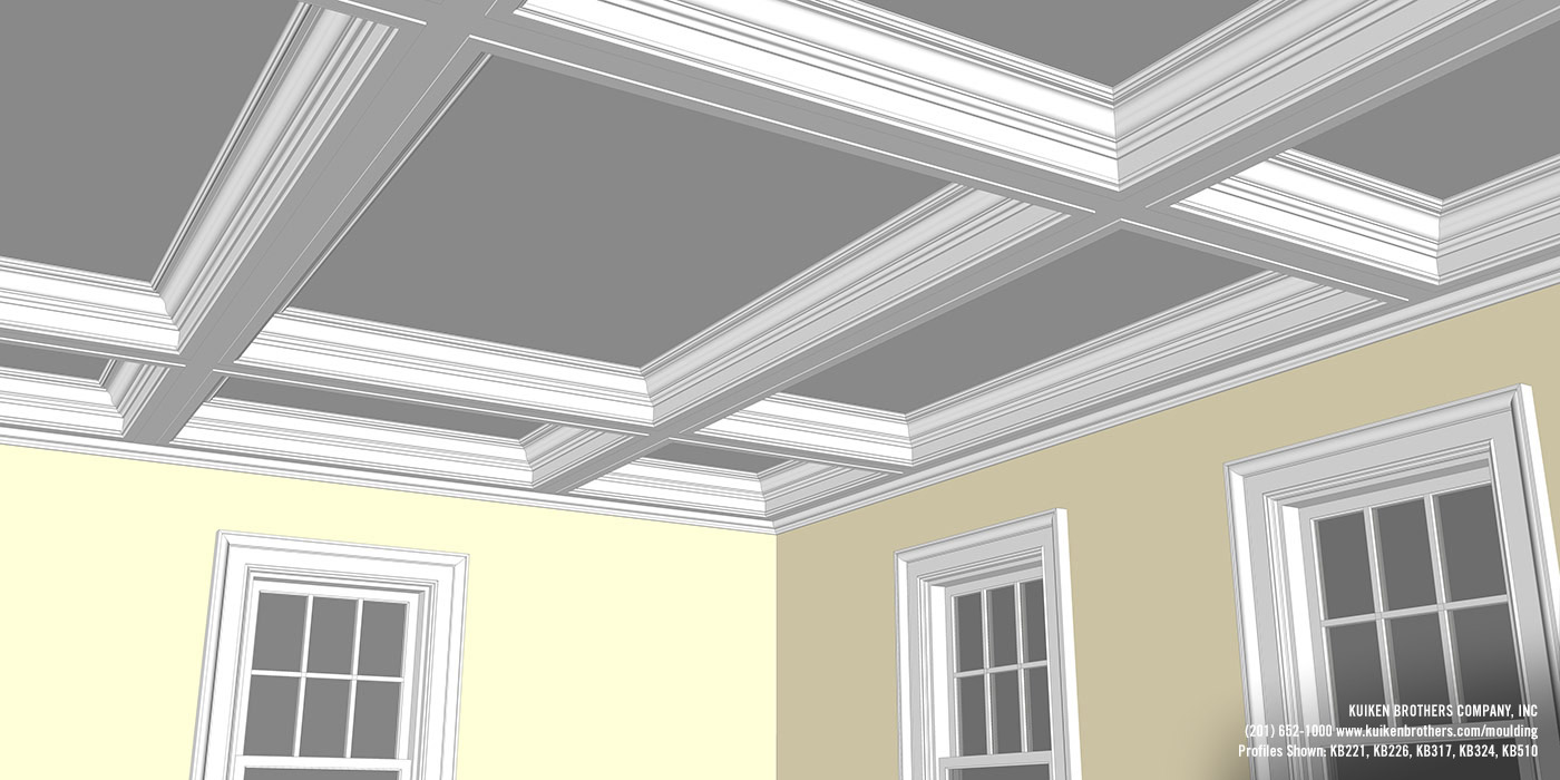 Coffer 10 kuiken brothers for Coffered ceiling detail