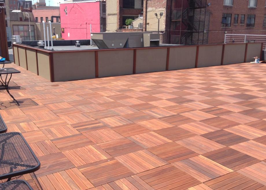 Kuiken Brothers Iron Woods IPE Deck Tile NYC Roof Top