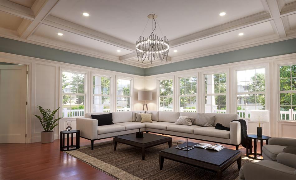 Modern Craftsman Arts & Crafts Living Room