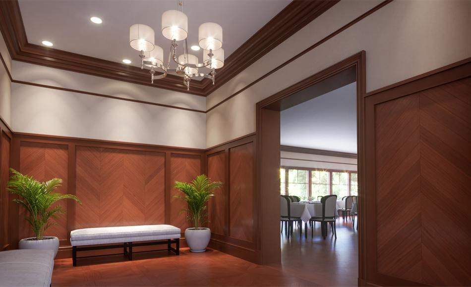 Modern Craftsman Modern Eating Club Room