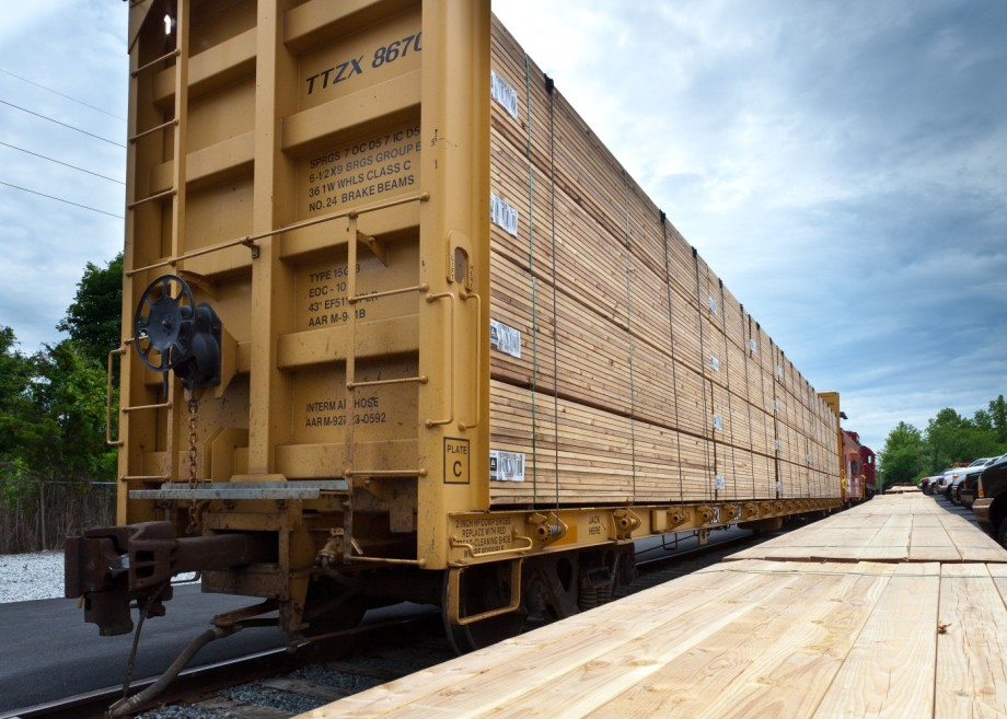 Kuiken Brothers Premium Lumber by Rail Railroad Lumber Mill