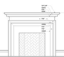 Modern Craftsman Mantel