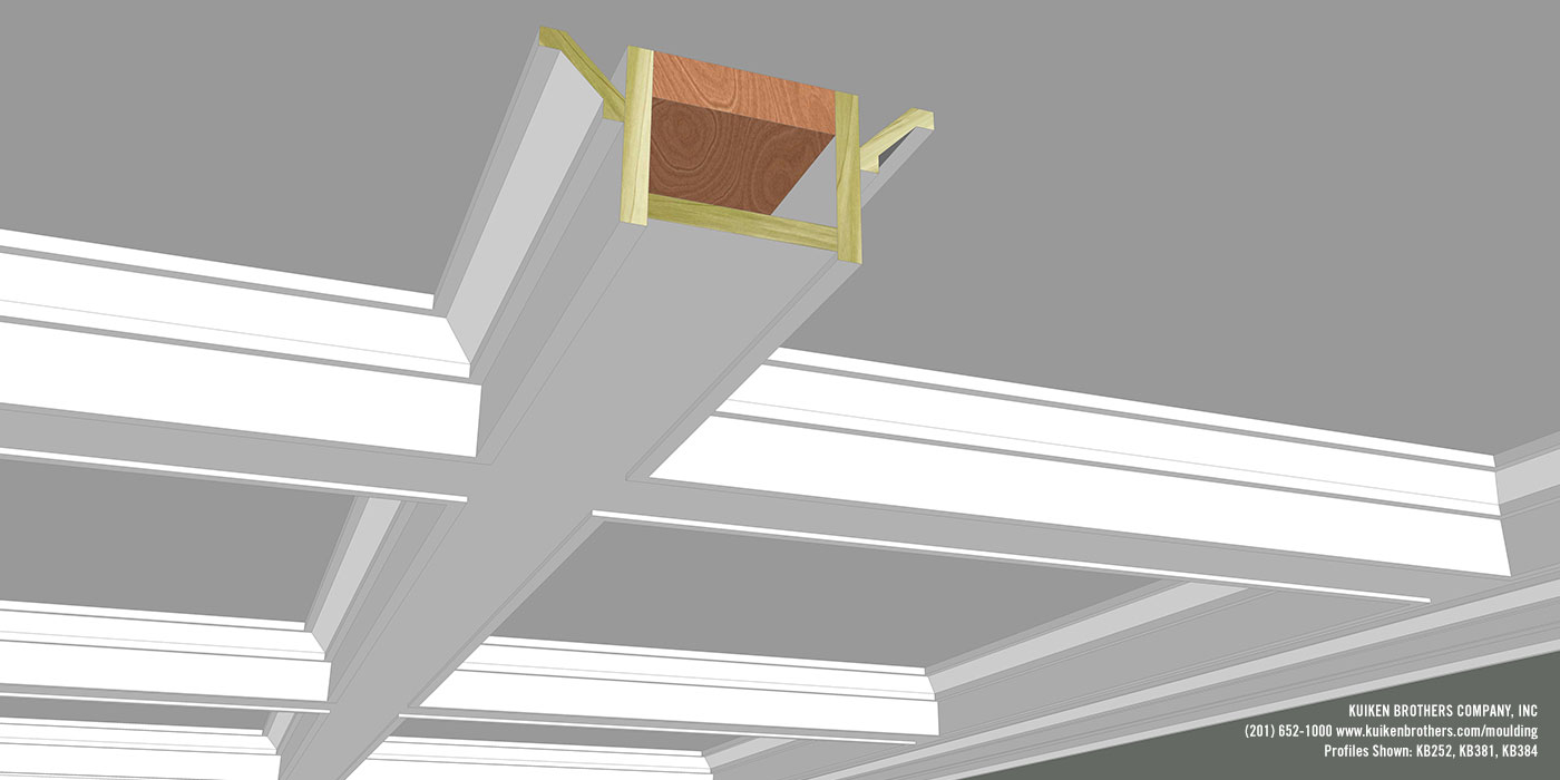 Simple Shaker Style Coffered Ceiling