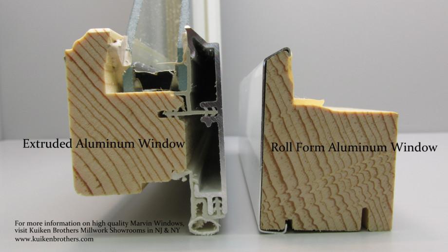 Roll Form vs Extruded Aluminum Windows - Kuiken Brothers Marvin Windows-001