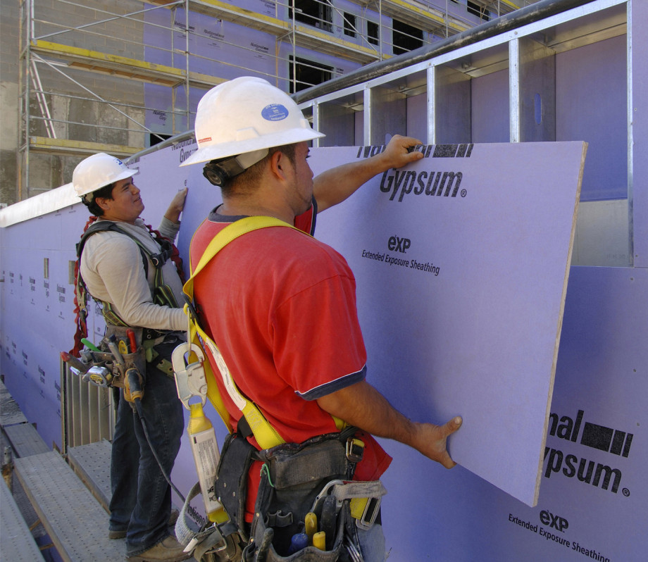 National gypsum purple gold bond exp extended exposure for Exterior sheathing options