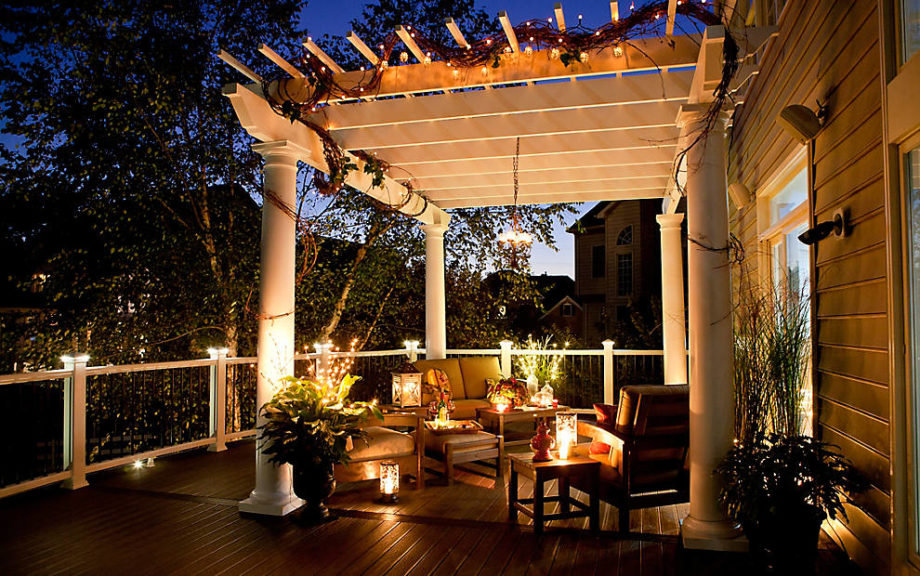 trex deck lighting. Get The Right Mood Under Moonlight With Trex Sophisticated Deck Lights. Easy To Build Into A New Or Existing Deck, Lighting Is Even